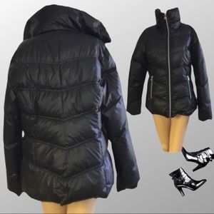 GUESS black Down feather JACKET S P